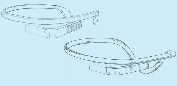 Google Glass 2.0 - предварительный эскиз